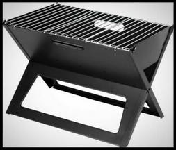 sturdy portable charcoal grill black