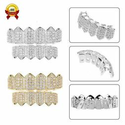 Stylish Silver Gold Iced Out GRILLZ Mouth Hip Hop Teeth Gril