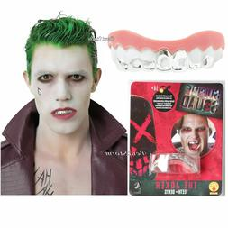Suicide Squad The Joker Fake Silver Teeth Grill Dentures Den