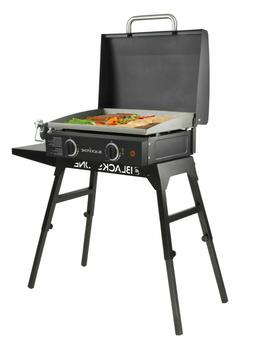 Table Top Griddle Grill 22 In. Portable Gas Hood Legs Bulk H