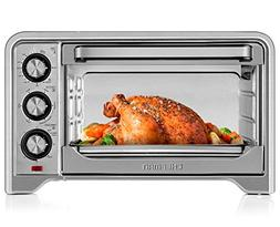 Chefman Toaster Oven Countertop Convection Stainless Steel 6