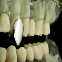 Vampire Fang Single Cap Grill Silver Tone One Canine Tooth F