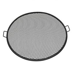 Sunnydaze X-Marks Fire Pit Cooking Grill Grate, Outdoor Roun