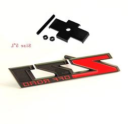 """Yoaoo® 1x OEM 5"""" Grille Matte Z71 OFF Road Emblems Badge 3D"""